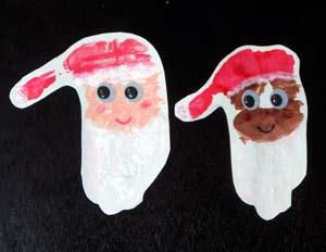 Handprint Santa Face