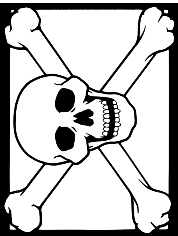 pirate flag coloring pages - photo#17